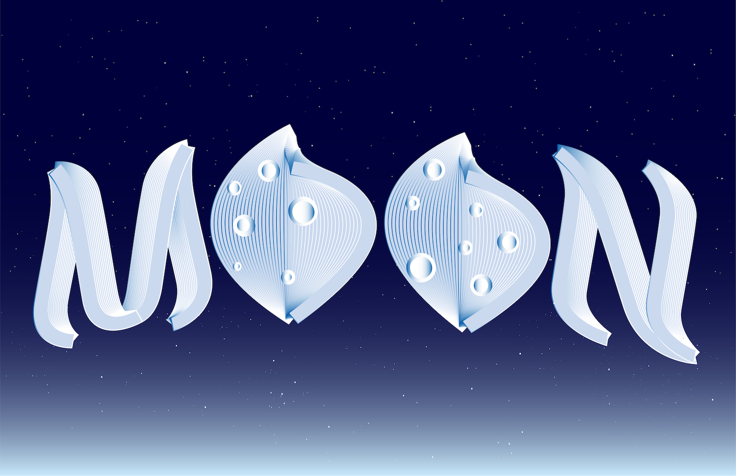 to the moon typography