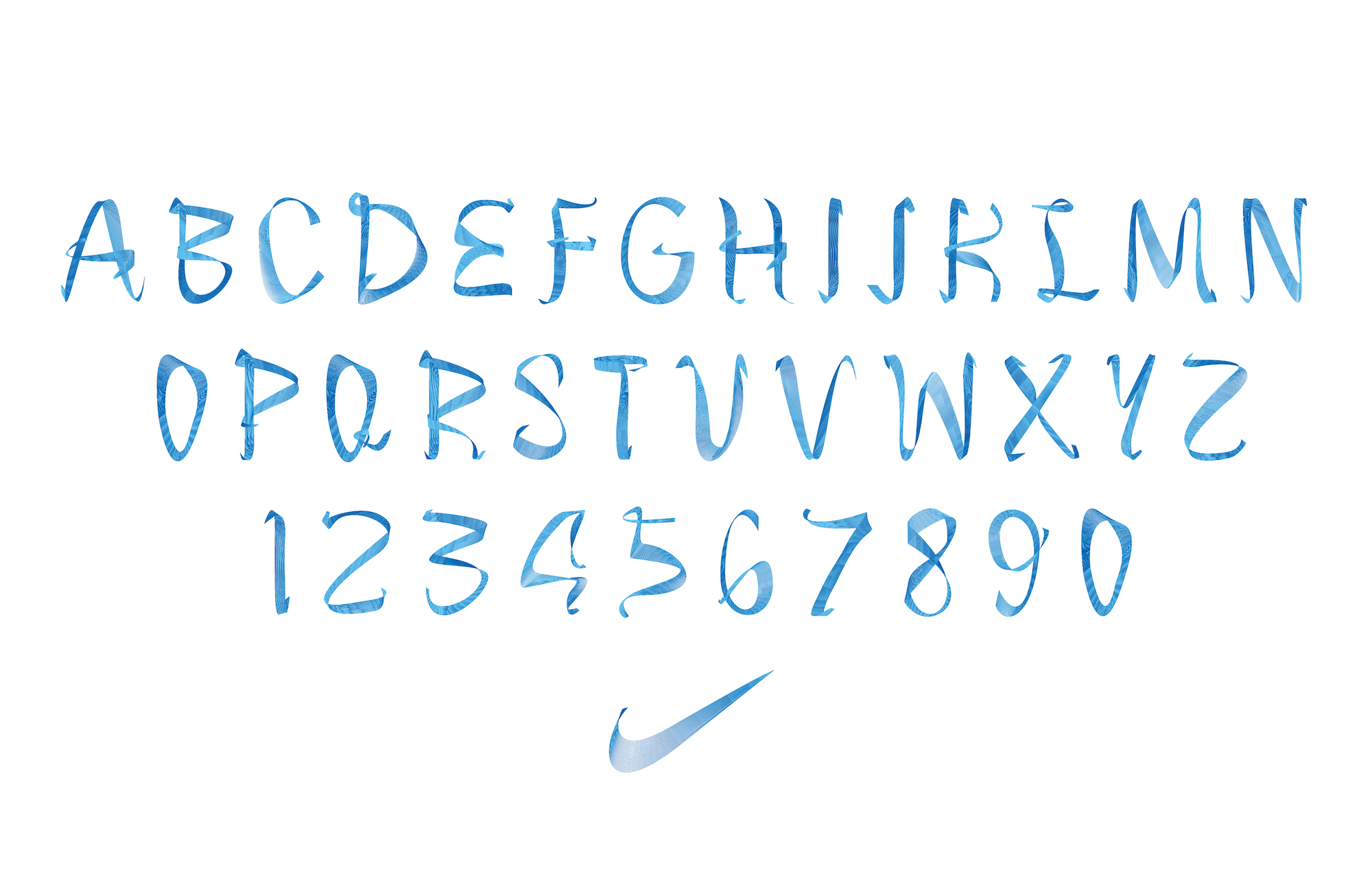 nike blue ribbon typeface